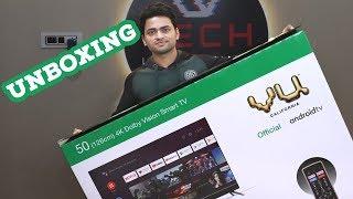 "Vu 126 cm (50"") 4K Cinema TV 2020 Unboxing | Vu 4K UHD Cinema Android Smart TV First Impressions"