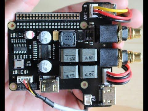 Raspberry PI, DAC and AMP, SupTronics X5000  OSMC  GearBest