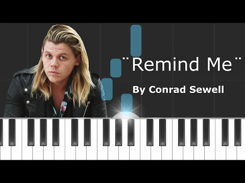 """Conrad Sewell - """"Remind Me"""" Piano Tutorial - Chords - How To Play - Cover"""