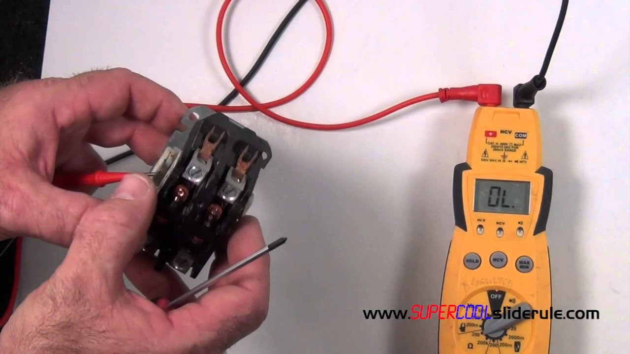 110v Motor Starter Wiring Diagram How To Properly Test A Contactor Youtube