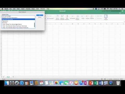Installing Excel Toolpak (Data Analysis) On Mac