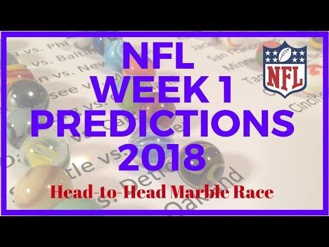NFL Week 1 Predictions 2018 Marble Race