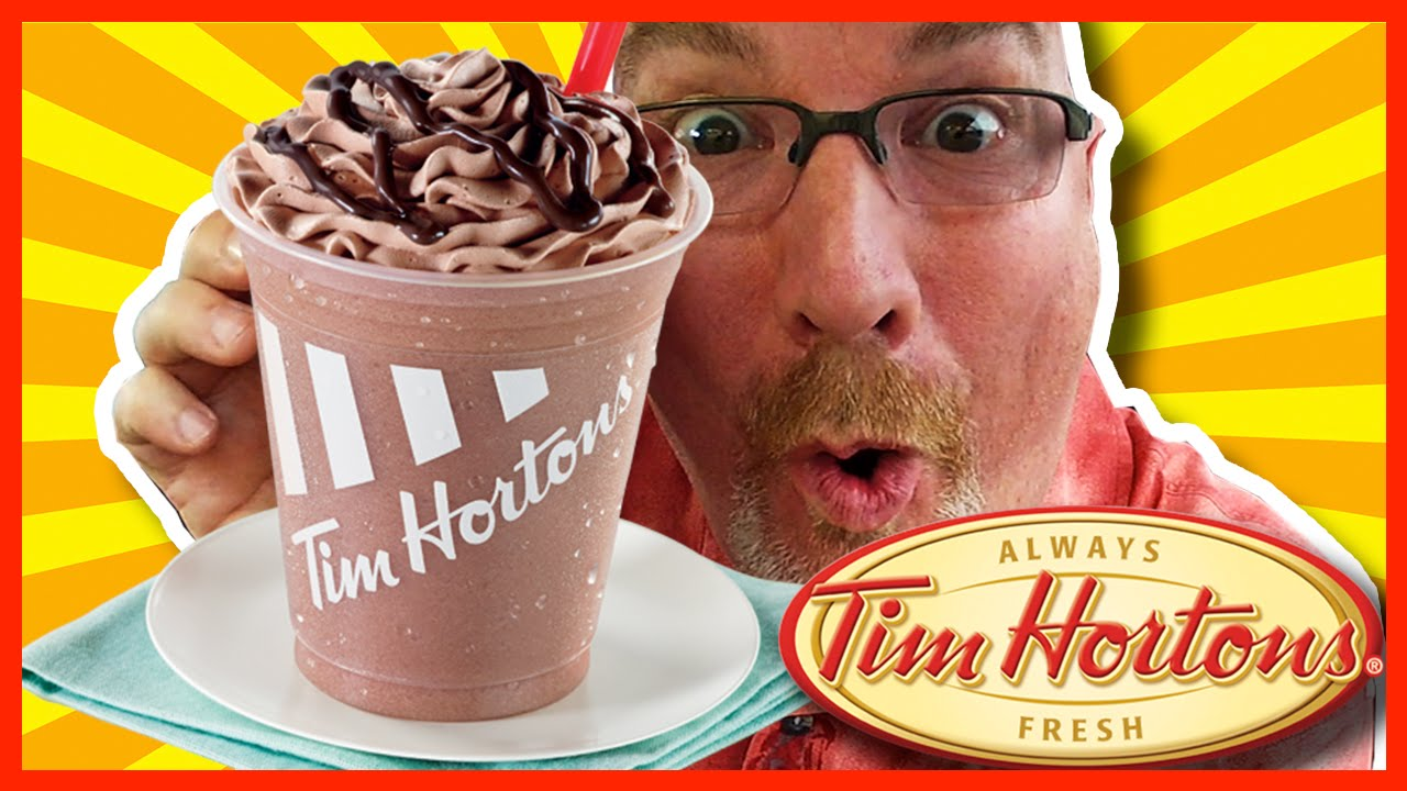 Tim Horton's Creamy Chocolate Chill Review WARNING: BRAIN FREEZE!  | KBDProductionsTV