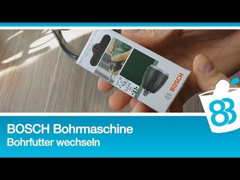 Bosch Psb 750 Rce Bohrfutter Wechseln Youtube
