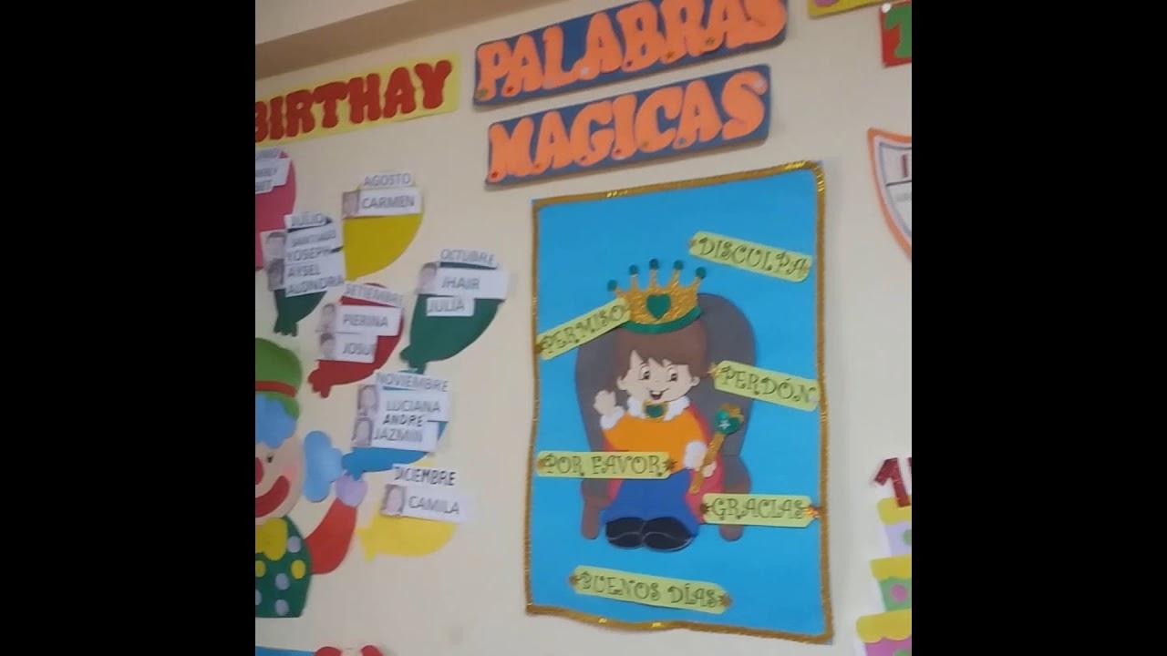 Decoracion de un aula de primaria por aniversario youtube for Decoracion aula primaria