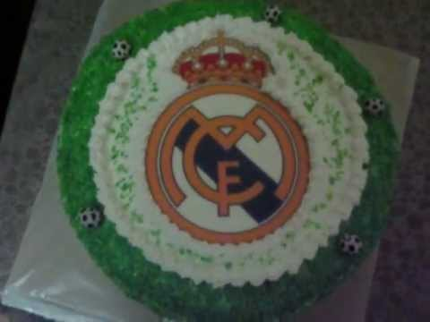Real Madrid Cake .....from Georgia :) - YouTube