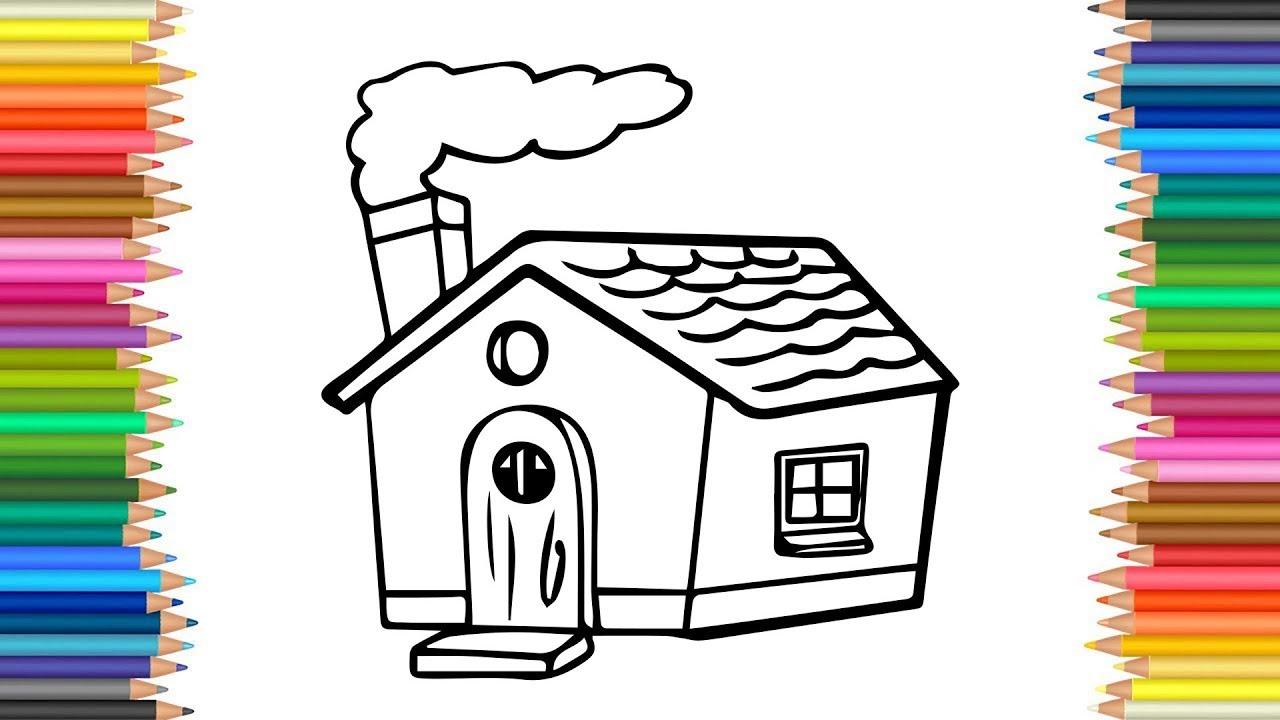 Mewarnai Gambar Rumah Kecil Sederhana Untuk Anak TK