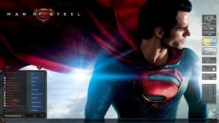 Man of Steel Windows 7 theme