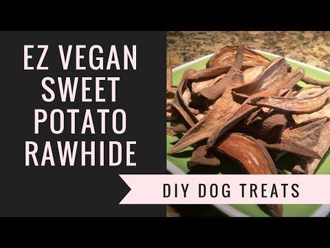 Sweet Potato Rawhide Chews – Easy Vegan Dog Treats – Yummy Healthy Homemade DIY Plant Based Recipe