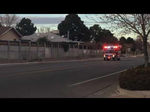 Albuquerque Fire Rescue Paramedic Unit R20 Lights on/no siren