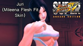Juri Mileena Flesh Pit Skin (Super Street Fighter IV: Arcade Edition)