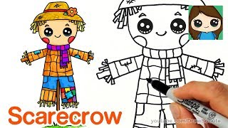 How to Draw a Scarecrow Easy