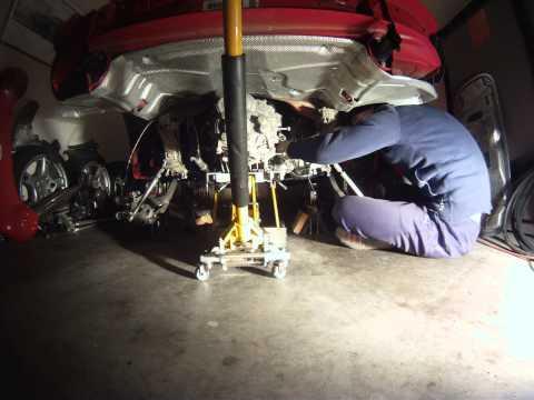 Porsche Cayman S Transmission Removal Time Lapse