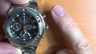 Wrist Watch Review: Part 2 - Seiko Chronograph Water Resistant 200m - 7T32-6R28