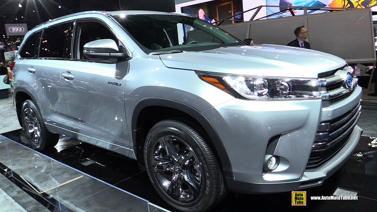 2017 toyota highlander limited hybrid exterior walkaround 2016 new york auto show youtube. Black Bedroom Furniture Sets. Home Design Ideas