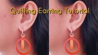 How to Make Quilling Earring / Tutorial / Design 68