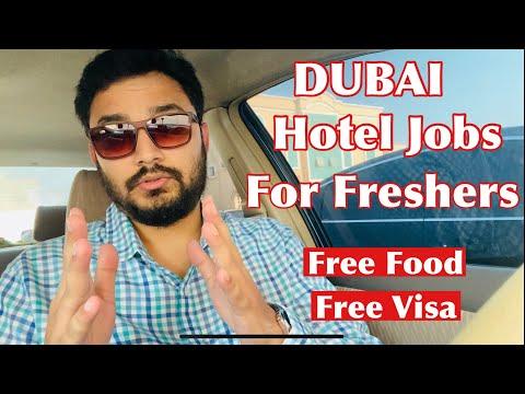 Dubai Hotel Jobs For Freshers   Urgently Hiring   Free Visa   Free Food   Free Accommodation