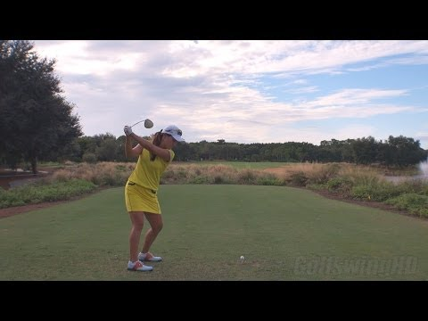 HEE YOUNG PARK - DRIVER BALL FLIGHT DTL GOLF SWING - LATE 2013 REG & SLOW MOTION - 1080p HD