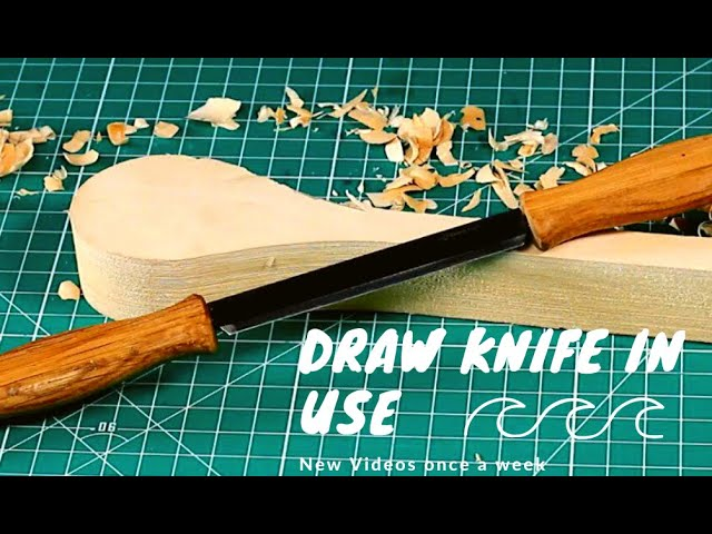 How to Use a Draw Knife? I Easy Wood Carving for Beginners