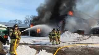 Fire destroys large barn at Wilson Farms in Litchfield