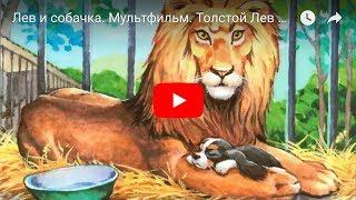 Лев и собачка. Мультфильм. Толстой Лев Николаевич.