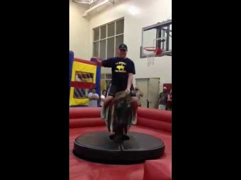 Frank Rizzo Rides the Mechanical Bull