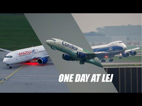 One Day's Plane Spotting at Leipzig/Halle Airport (Germany)