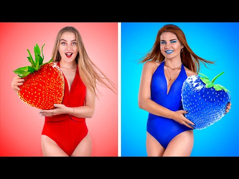 Strawberry Challenge! Strawberry Hacks And Pranks!