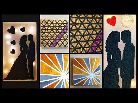6 Diy Wall Art| Gift Ideas| gadac diy| Room Decor|room decorating ideas| diy crafts|wall decoration