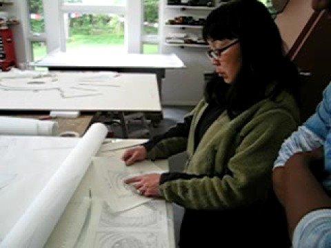 06/15/07 Nancy Gong at Studio with Thomas Warfield