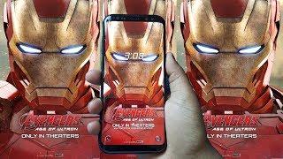 Download Iron Man Theme on Samsung Galaxy S8, S8 Plus