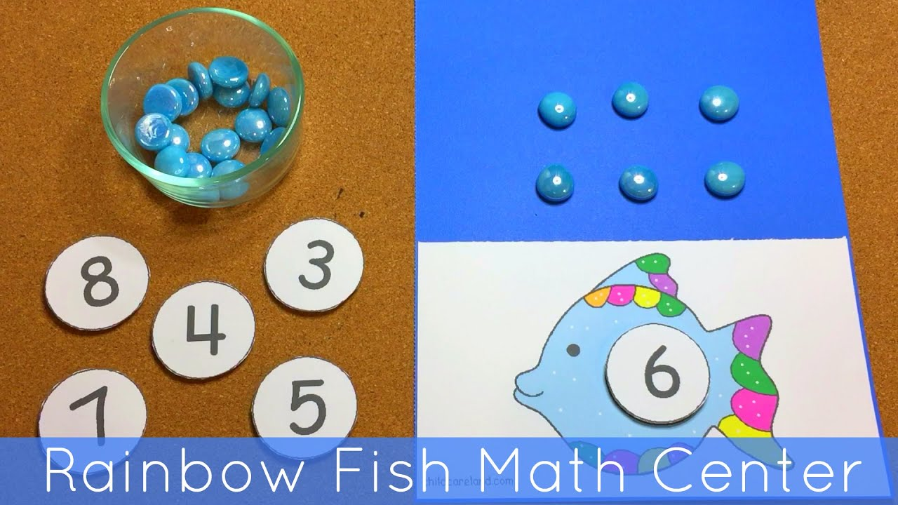 Rainbow Fish Math Center For Preschool and Kindergarten - YouTube