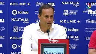 Rueda de prensa de Fran Fernández tras el AD Alcorcón vs Real Zaragoza (0-3)