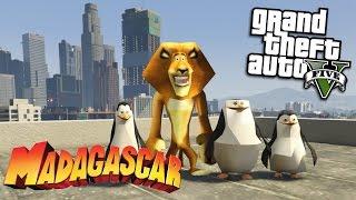 GTA 5 Mods - MADAGASCAR MOD w/ ALEX, SKIPPER, KOWALSKI & PRIVATE (GTA 5 Mods Gameplay)