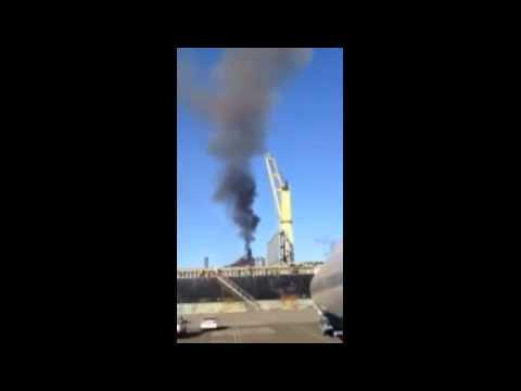 RAW Footage - Blast Furnace Incident Port Kembla Australia 8 June 2013