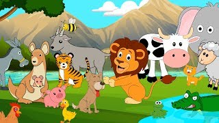 Animal Sounds Song for Toddlers and Kids