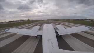 My first flight in Piper Seneca (PA34), Cuatro Vientos (LECU). GoPro, FSM.