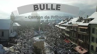 BULLE - Canton de Fribourg - Suisse - aerial view with snow -10º DJI Mavic Pro