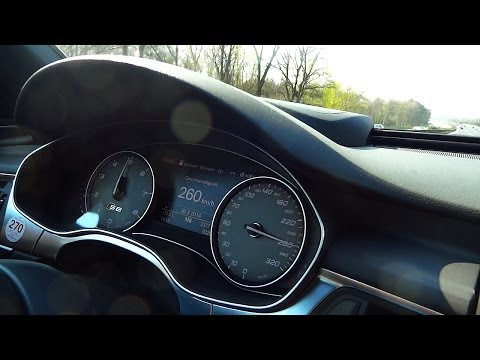 Audi S6 Autobahn Drive - Acceleration & Top Speed Test