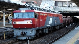 2019/01/22 JR Freight: Zinc Tank Cars & Wagons at Omiya