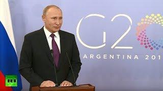 Conferencia de prensa de Vladímir Putin en el G20