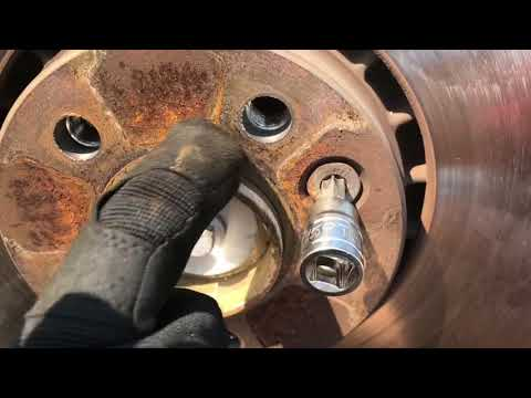Volvo XC60 front brake pad and rotor replacement diy