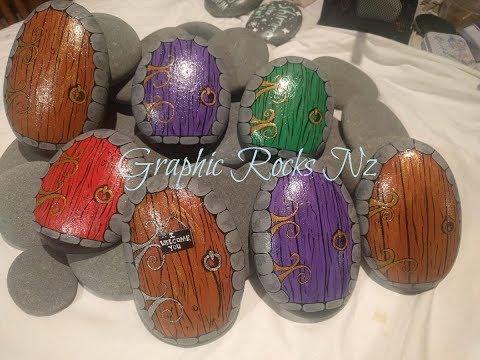 Fairy Door Painted Rock Tutorial