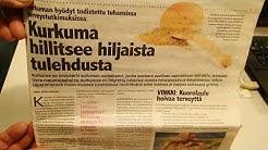 Sodankylä 28.10.17. KauppaSuomi lehden artikkeli kurkumasta