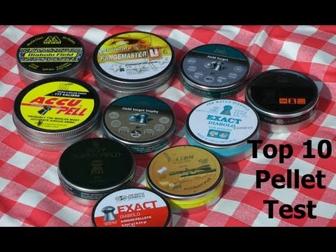 AIR RIFLE PELLET TEST: Best 10 Pellets.177