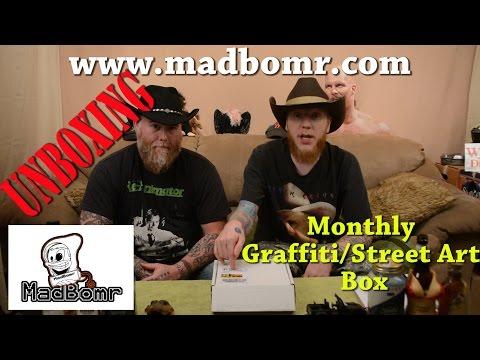Madbomr.com Graffiti / Street Art Monthly Subscription Box REVIEW