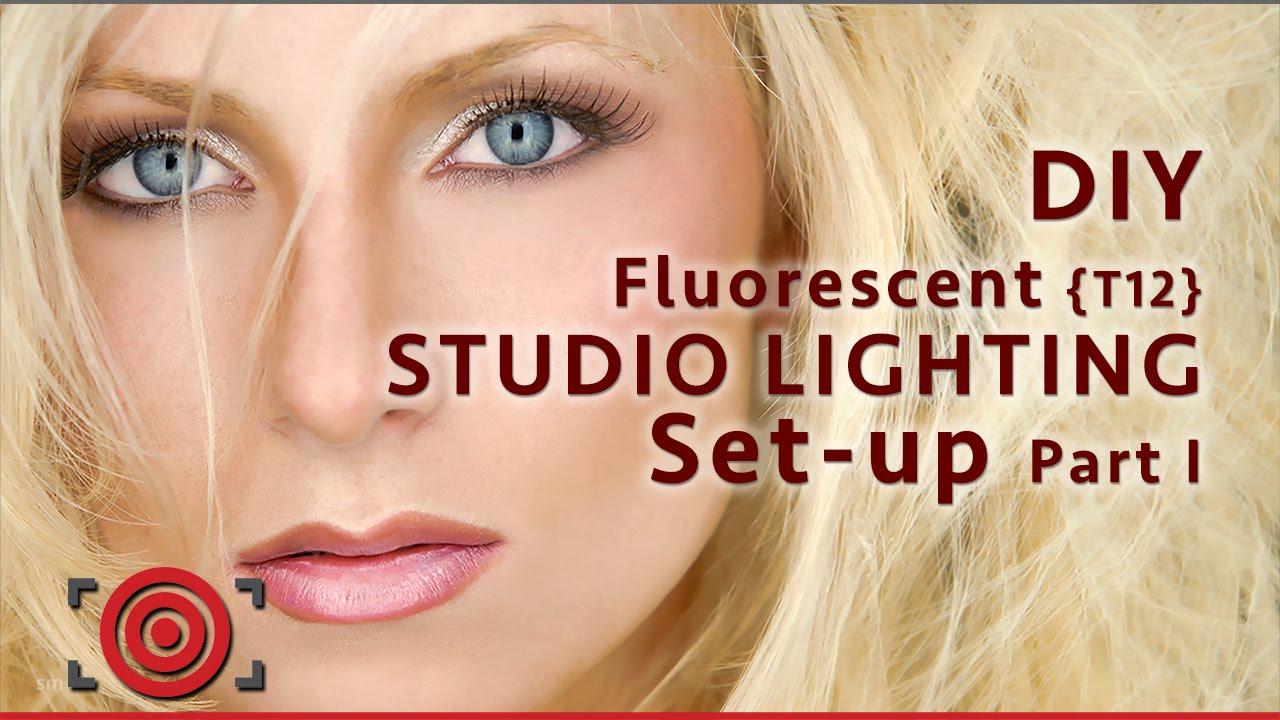 Diy Fluorescent Photography Studio Lighting Setup Part 1 Youtube