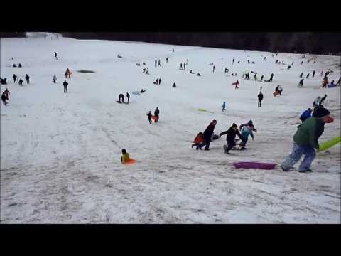 Sledding at Bond Park Cary, NC