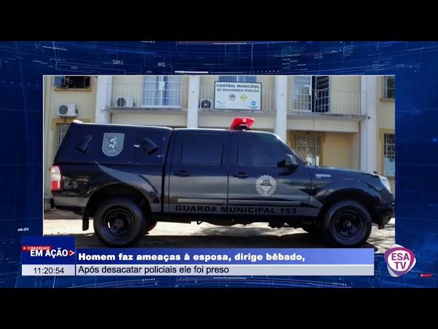 MARIDO BÊBADO É PRESO APÓS BATER NA ESPOSA E DESACATAR POLICIAIS MILITARES EM ARAPONGAS