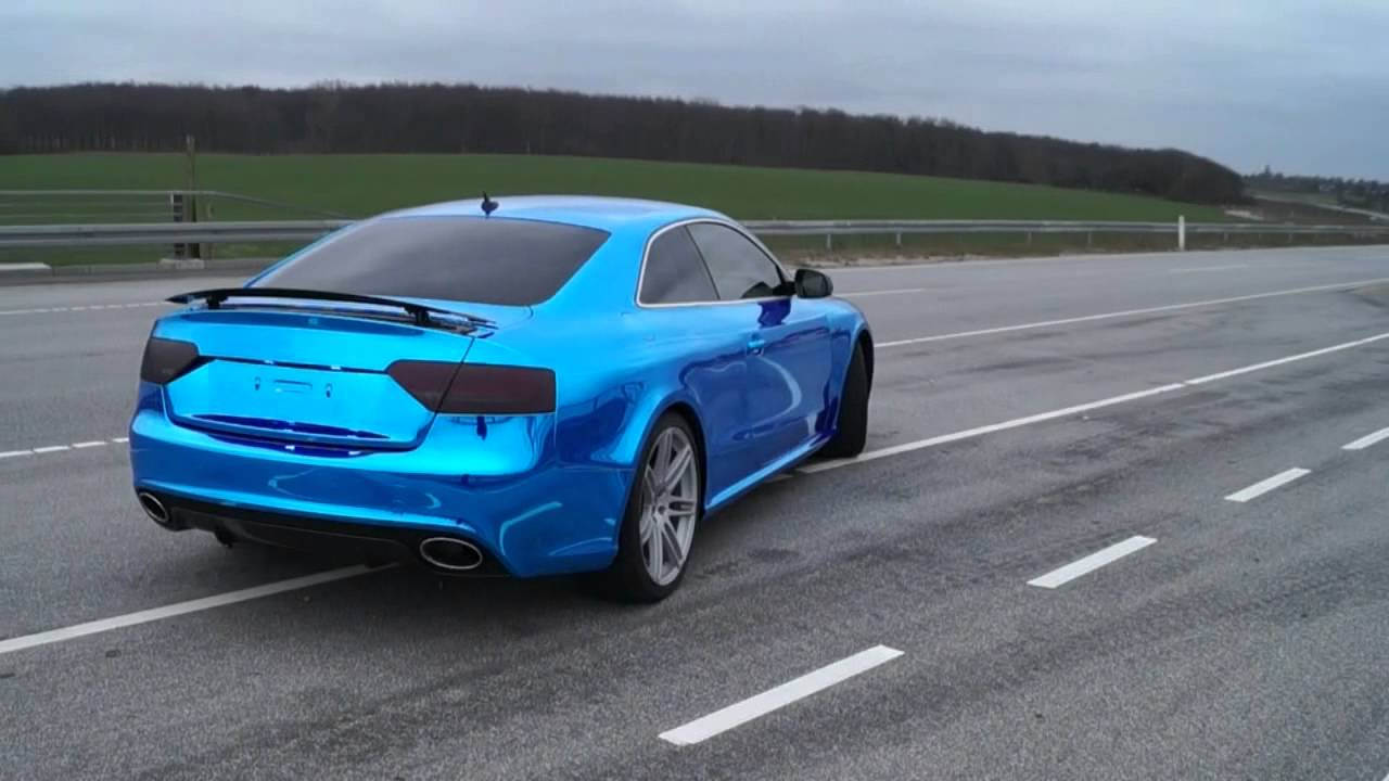 Audi A5 Coupe Wrapped In Avery Blue Chrome By Tintshop